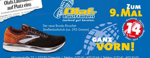 Am Mittwoch, 17. April, findet im Moddenbach-Stadion Harsewinkel eine Laufschuh-Testaktion von Brooks und Olafs Laufladen statt. Beginn ist um 18.00 […]